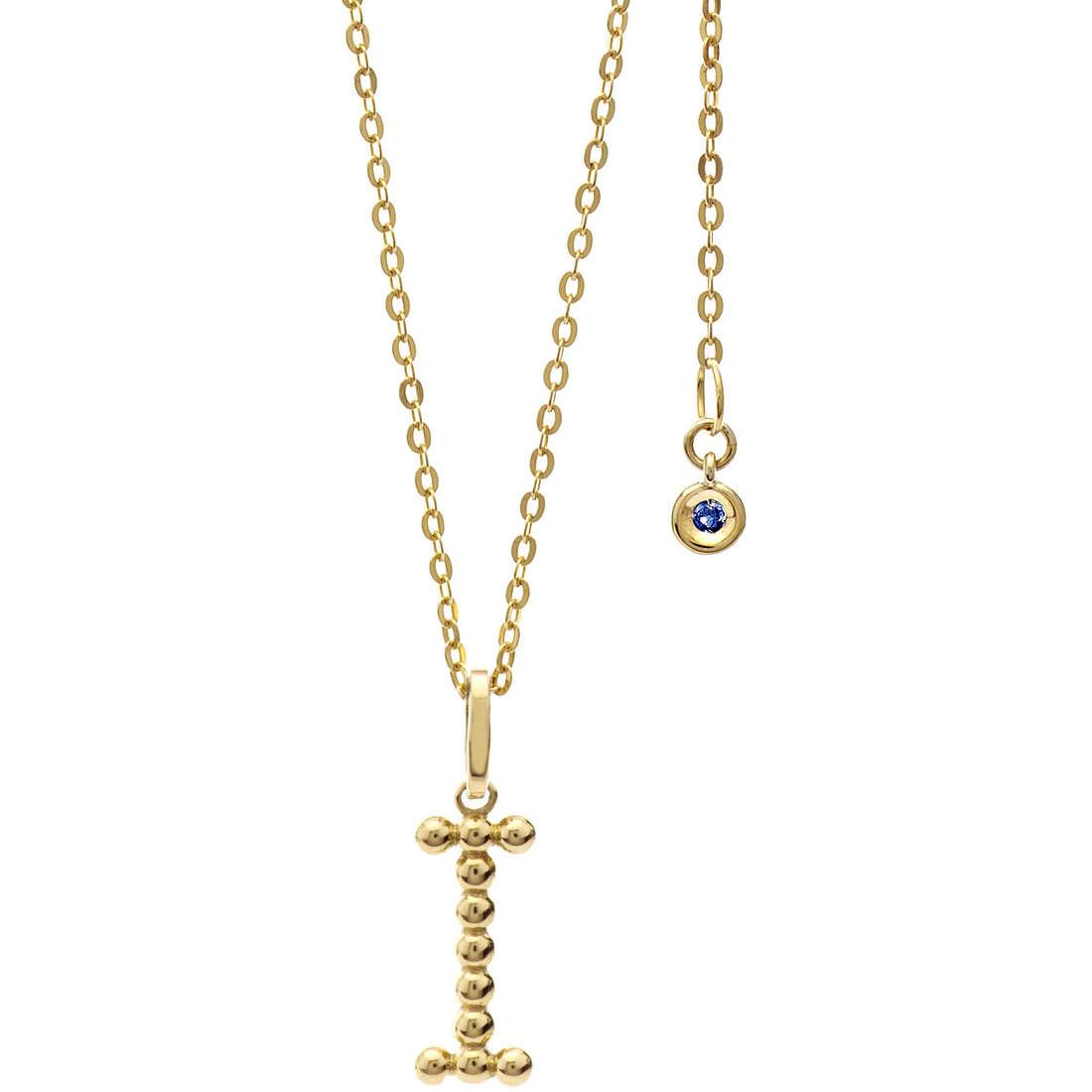 collana donna gioielli Comete Letterine GLB 1058