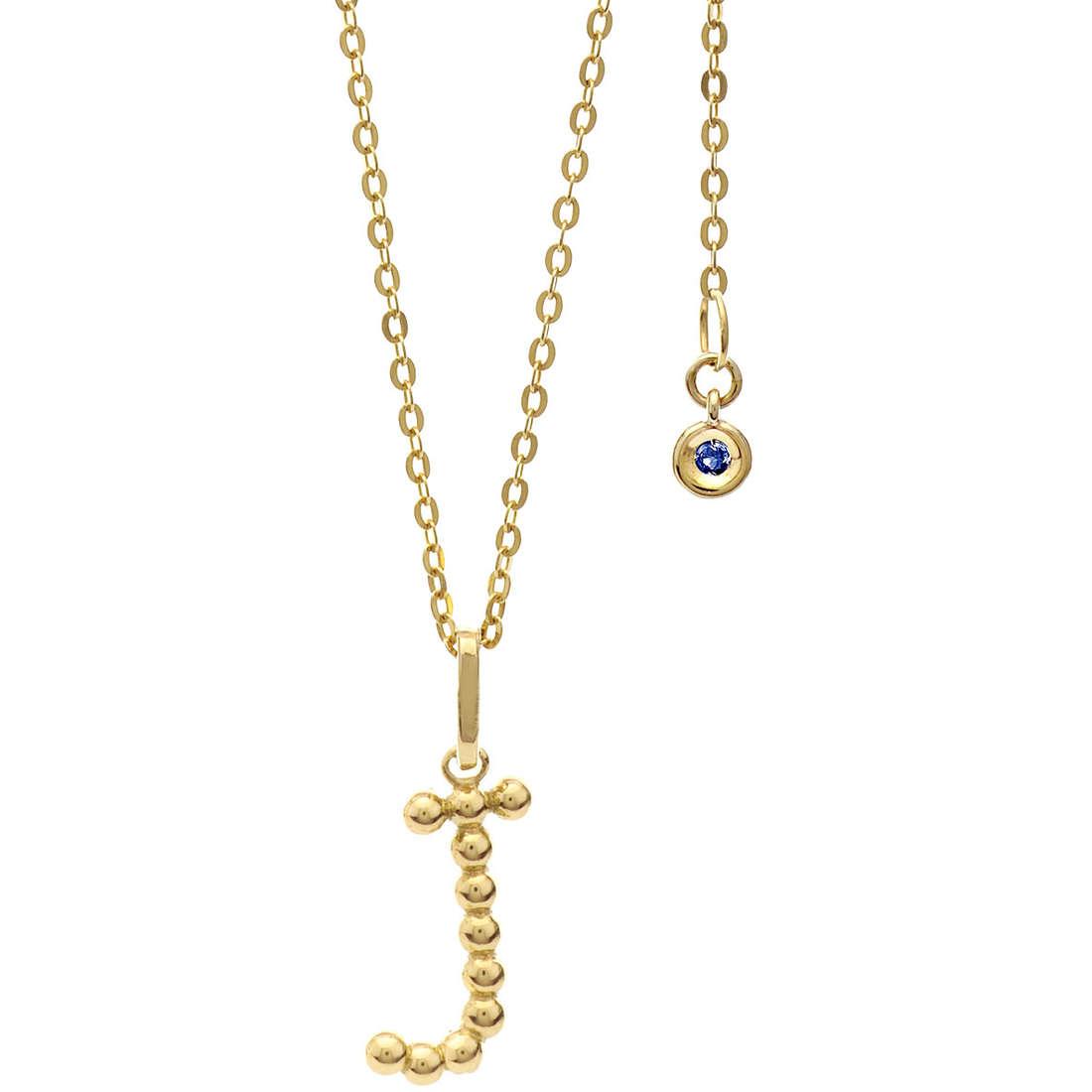 collana donna gioielli Comete Letterine GLB 1059