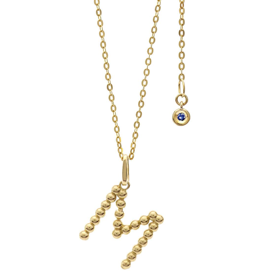 collana donna gioielli Comete Letterine GLB 1062