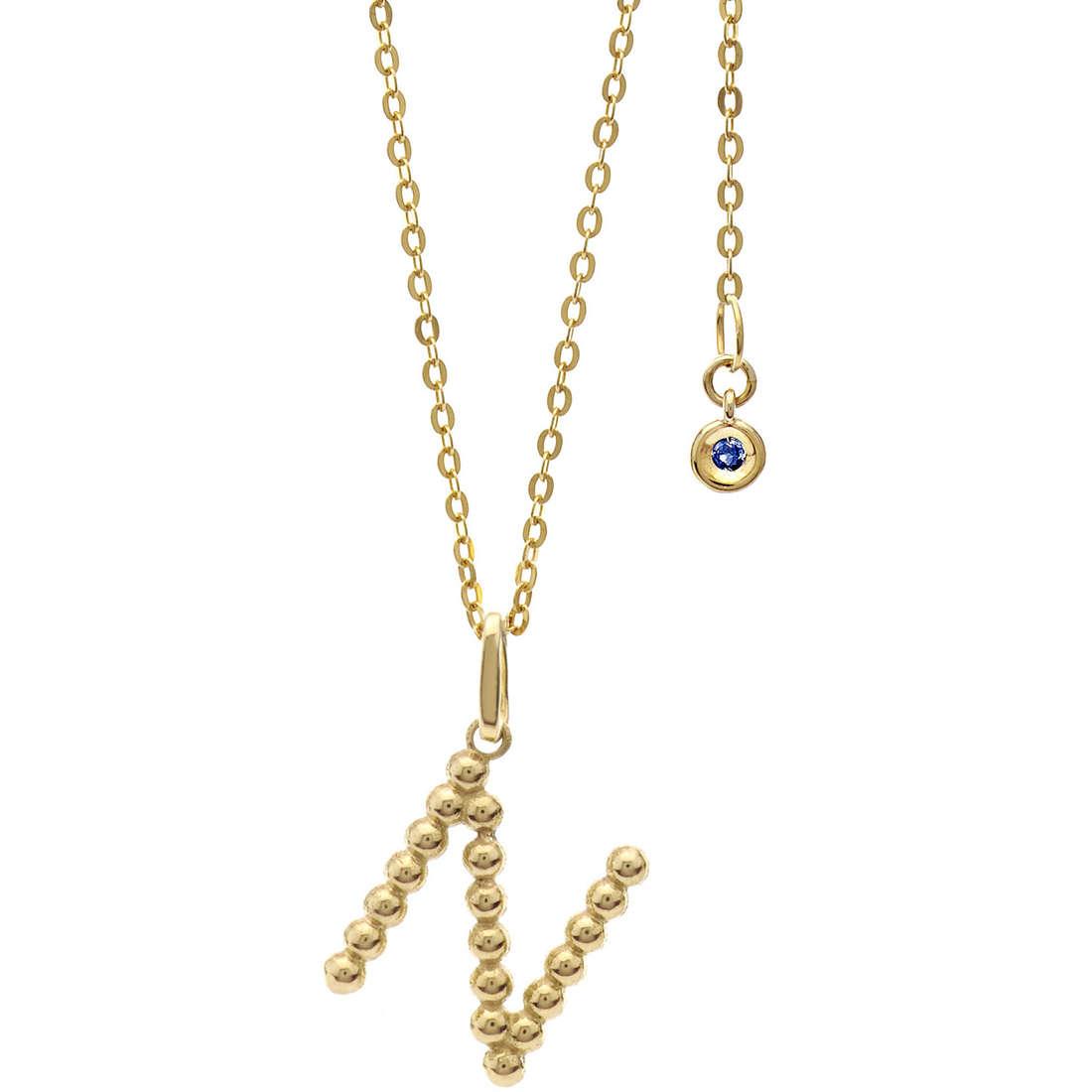 collana donna gioielli Comete Letterine GLB 1063