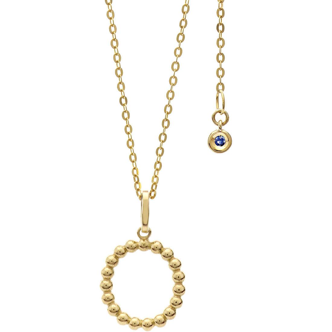 collana donna gioielli Comete Letterine GLB 1064
