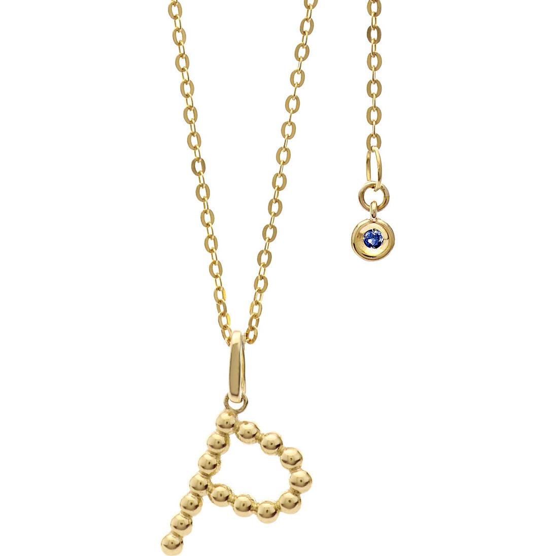 collana donna gioielli Comete Letterine GLB 1065