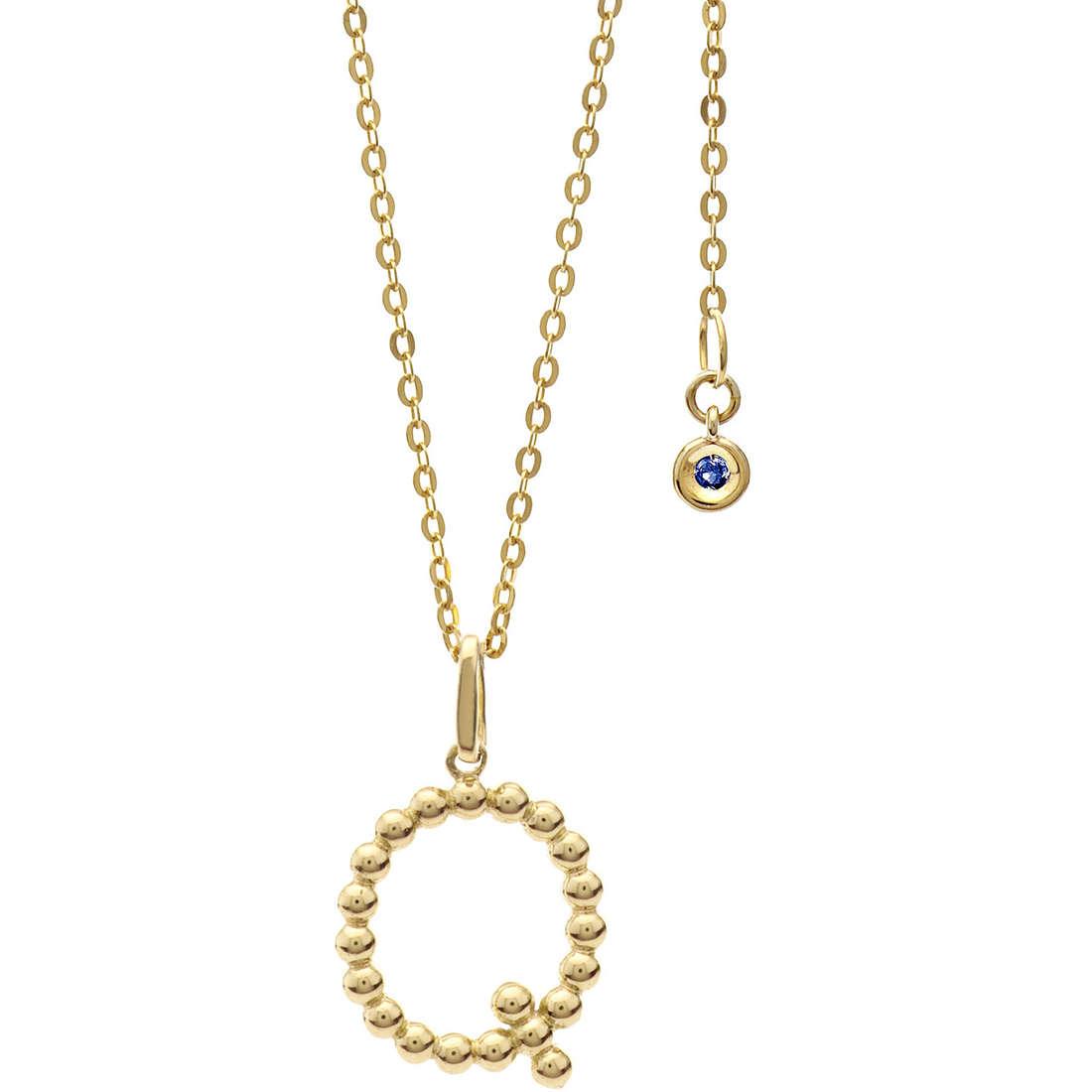 collana donna gioielli Comete Letterine GLB 1066