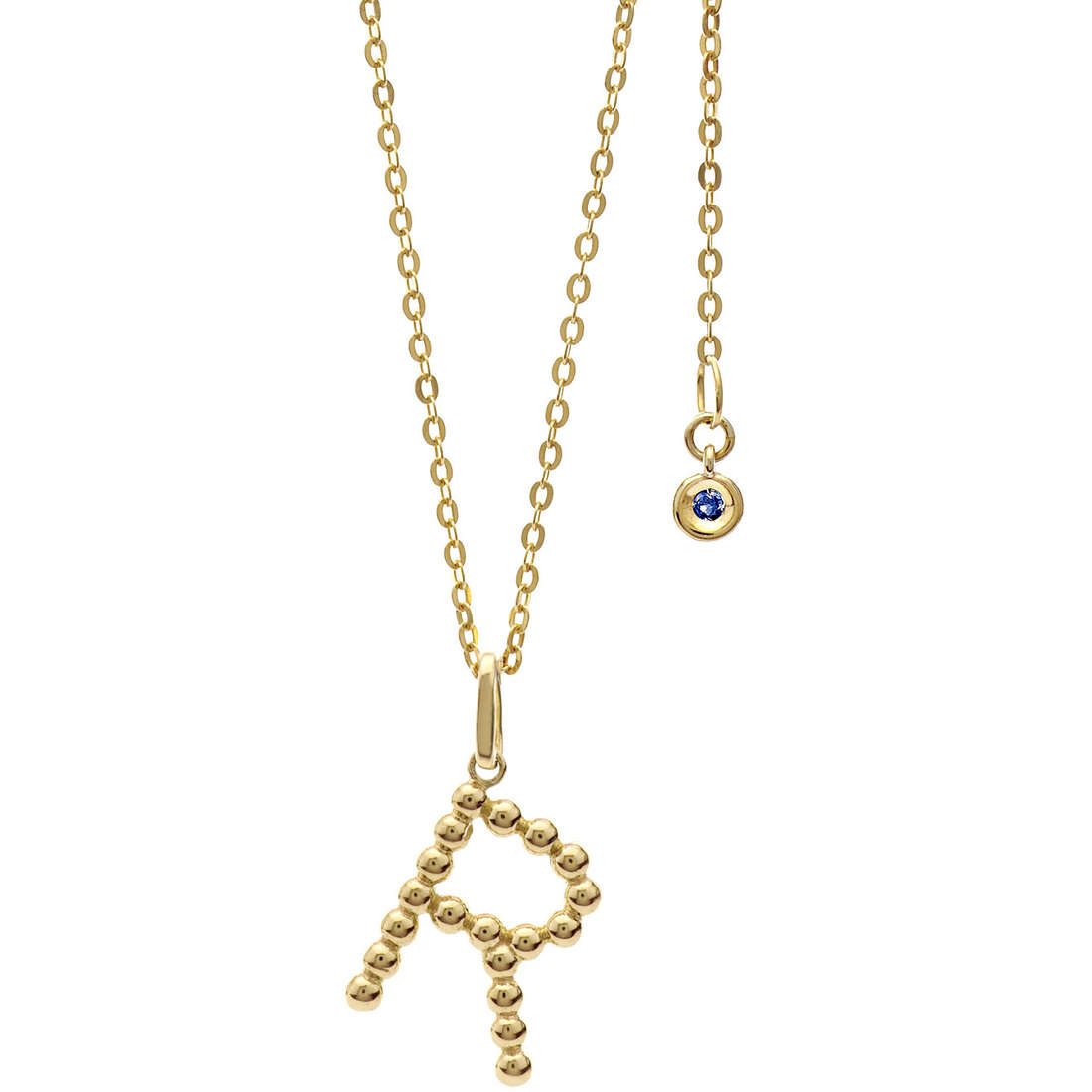 collana donna gioielli Comete Letterine GLB 1067