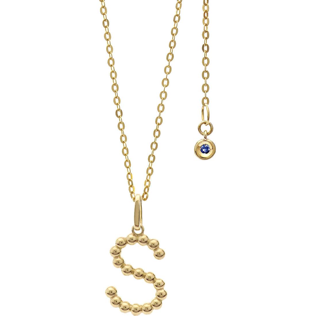 collana donna gioielli Comete Letterine GLB 1068
