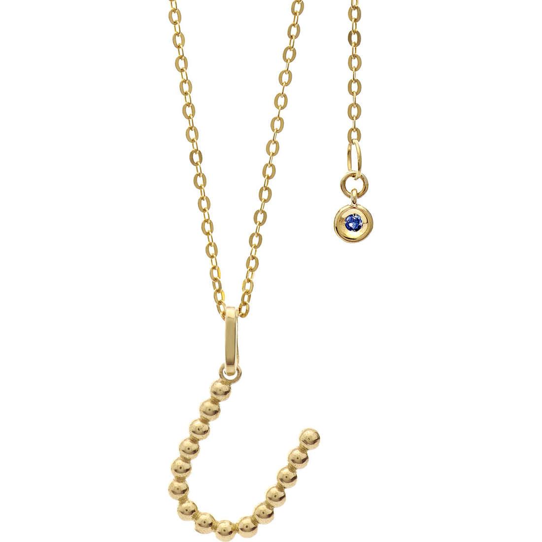 collana donna gioielli Comete Letterine GLB 1070