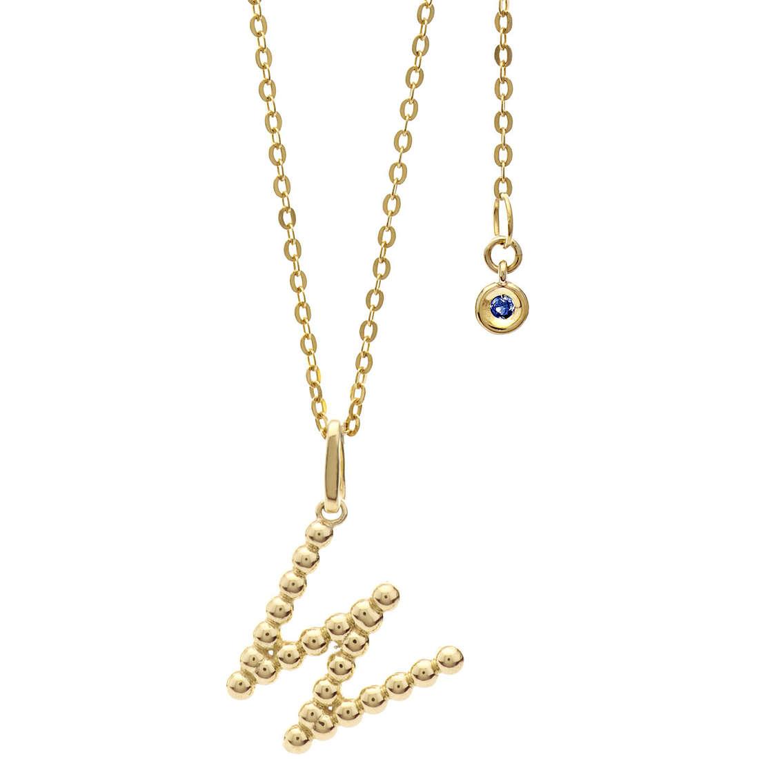 collana donna gioielli Comete Letterine GLB 1072