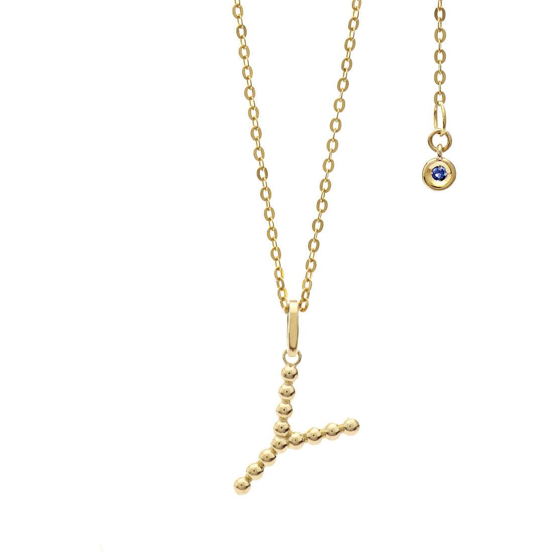 collana donna gioielli Comete Letterine GLB 1074
