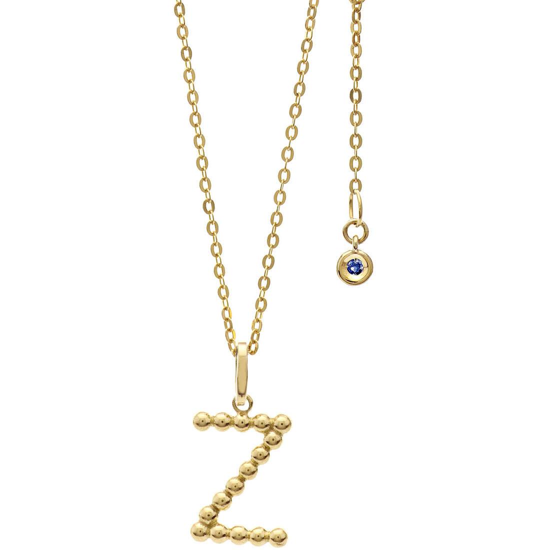 collana donna gioielli Comete Letterine GLB 1075