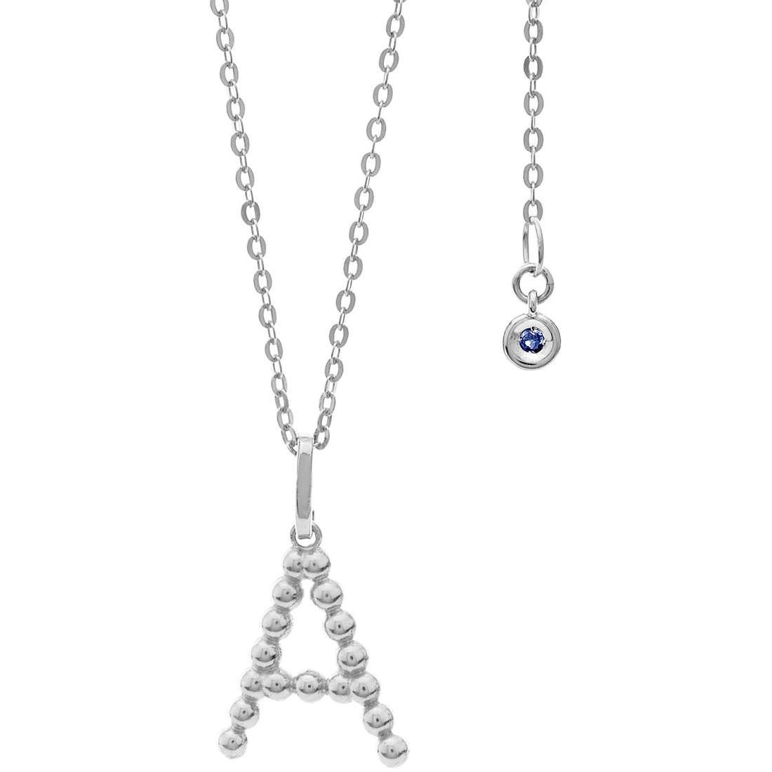 collana donna gioielli Comete Letterine GLB 1076