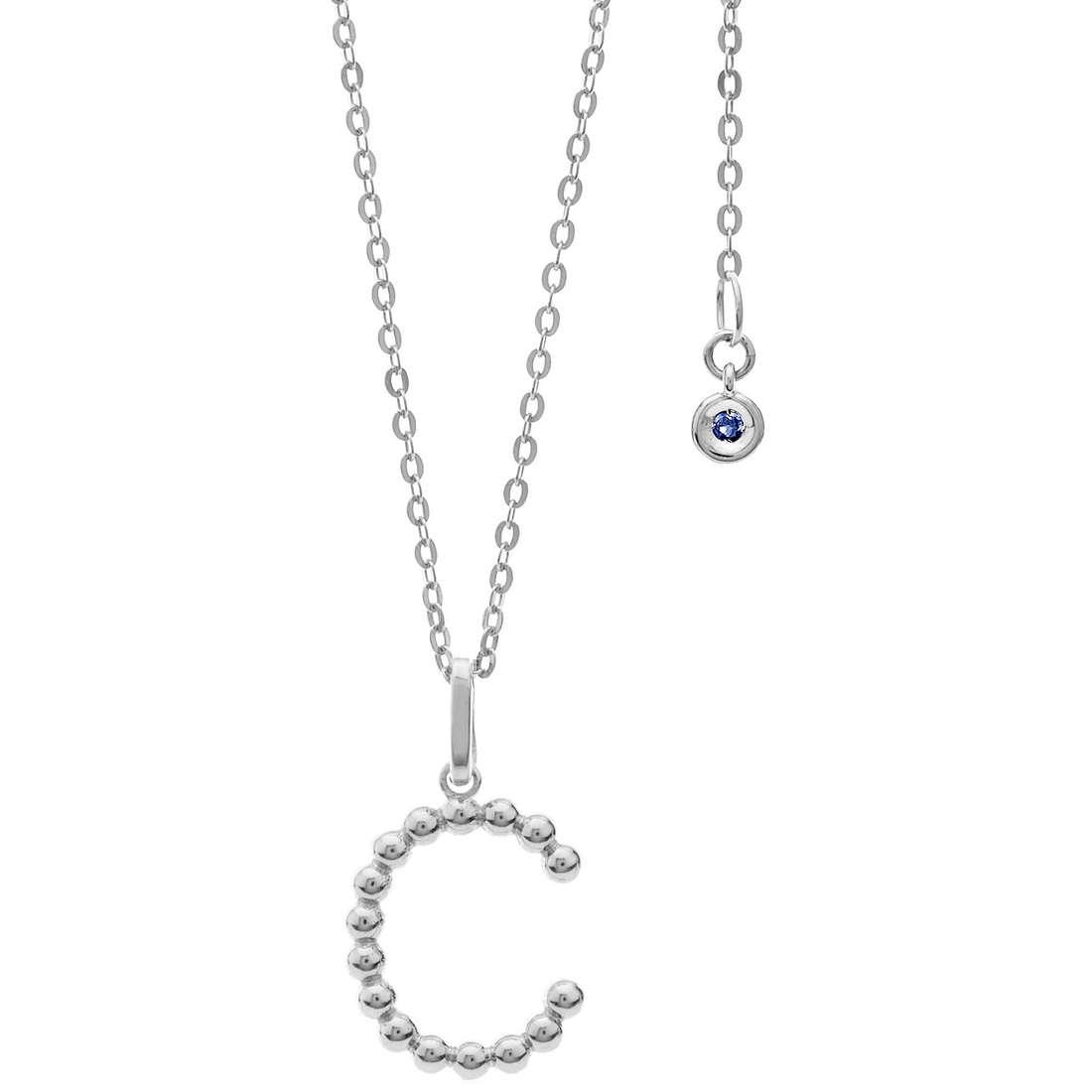 collana donna gioielli Comete Letterine GLB 1078
