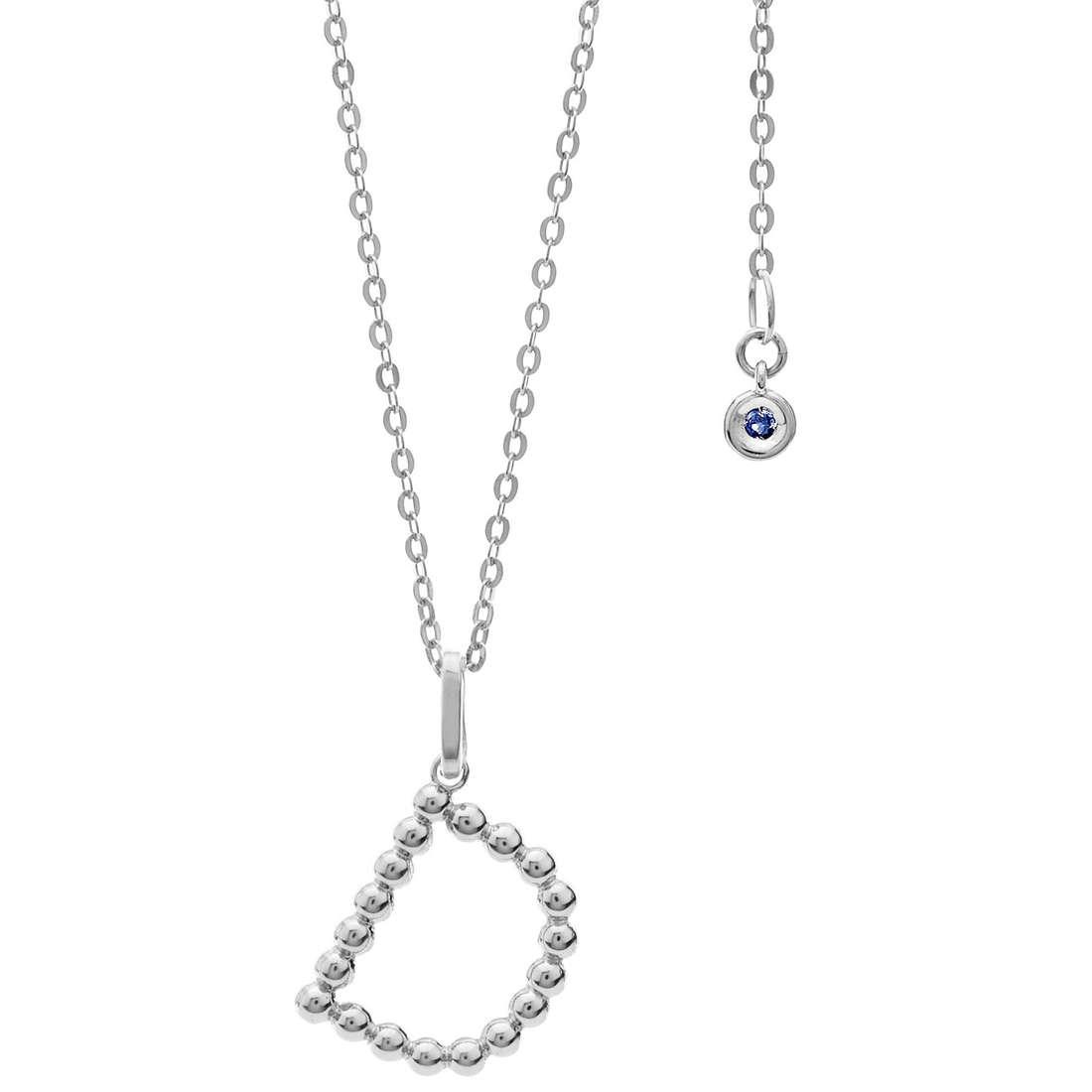 collana donna gioielli Comete Letterine GLB 1079