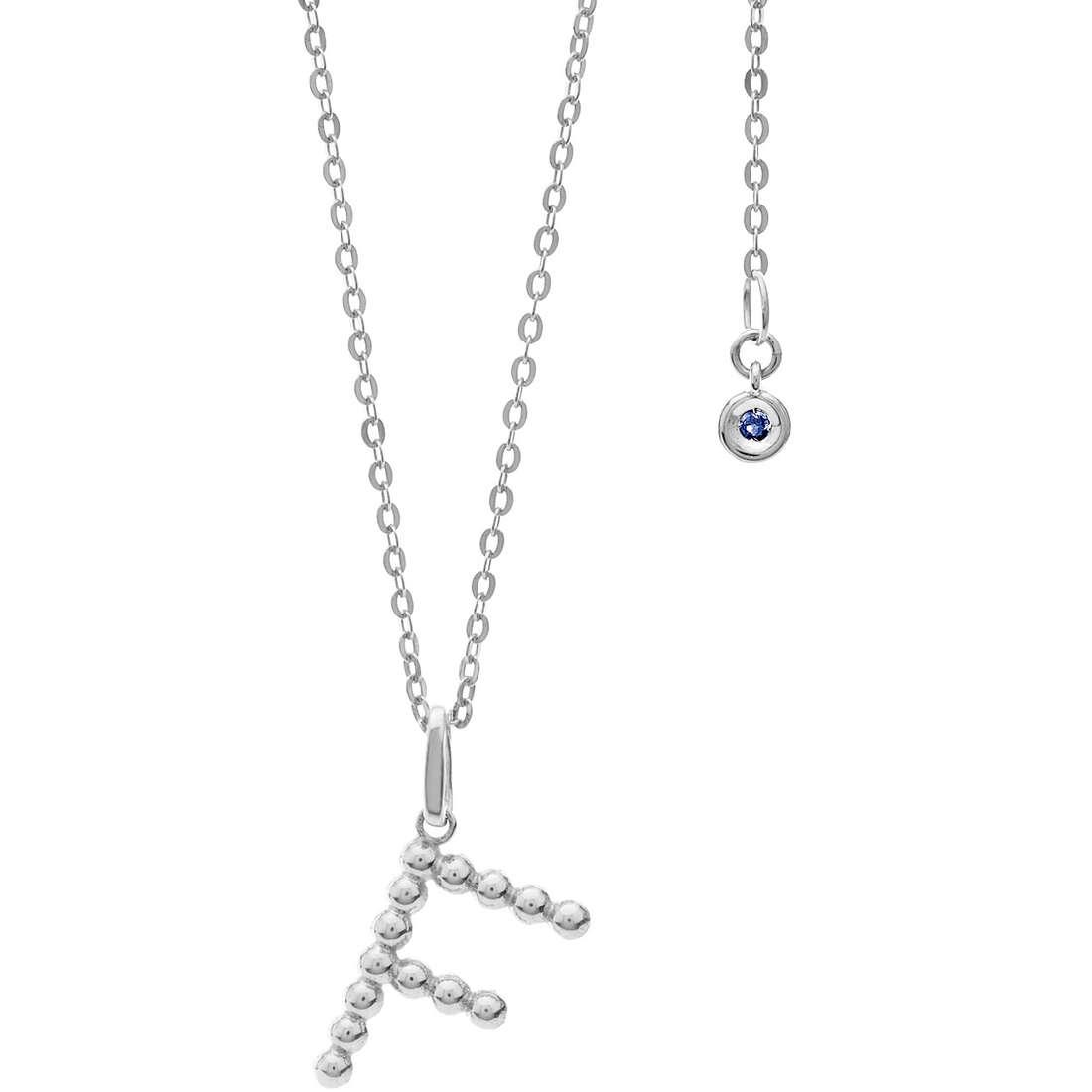 collana donna gioielli Comete Letterine GLB 1081