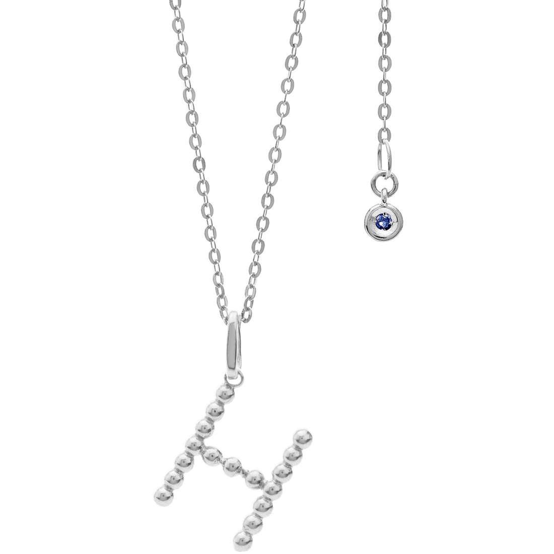 collana donna gioielli Comete Letterine GLB 1083