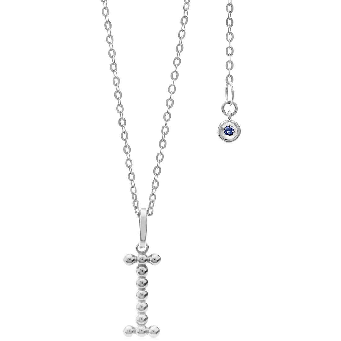 collana donna gioielli Comete Letterine GLB 1084