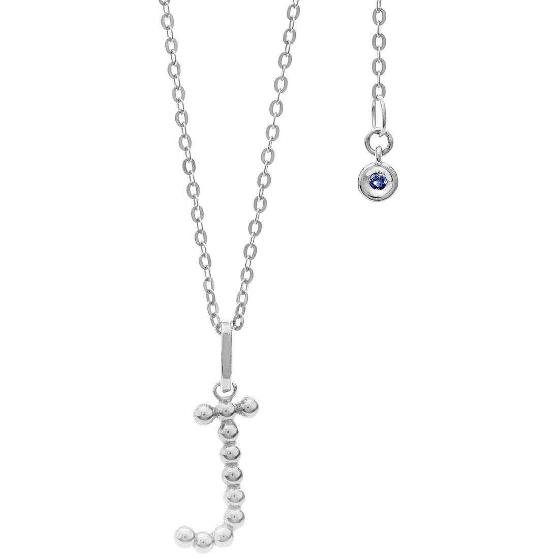 collana donna gioielli Comete Letterine GLB 1085