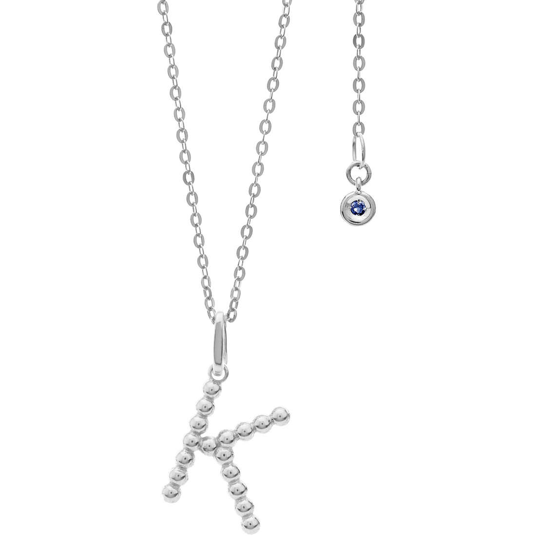 collana donna gioielli Comete Letterine GLB 1086