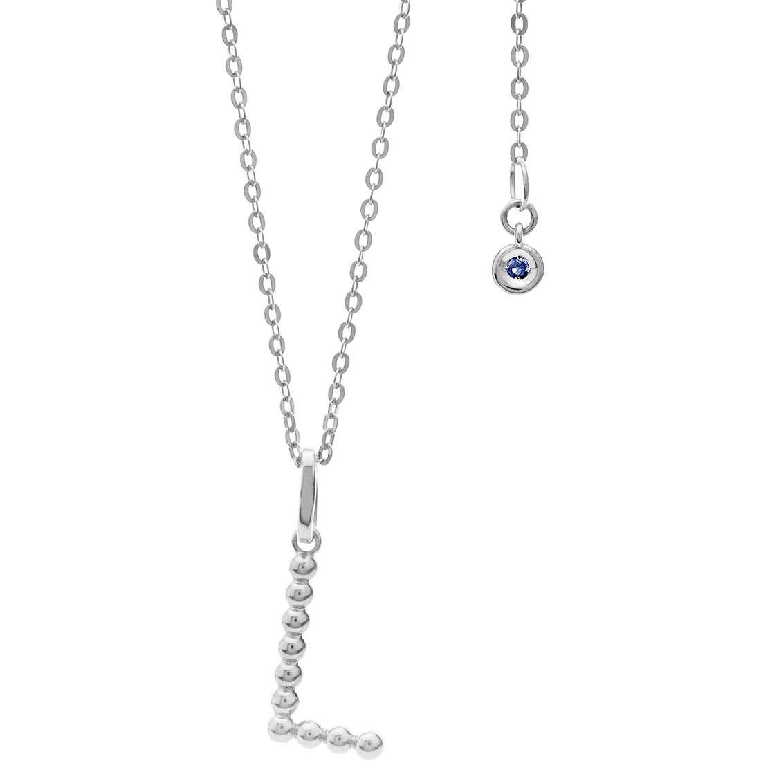 collana donna gioielli Comete Letterine GLB 1087