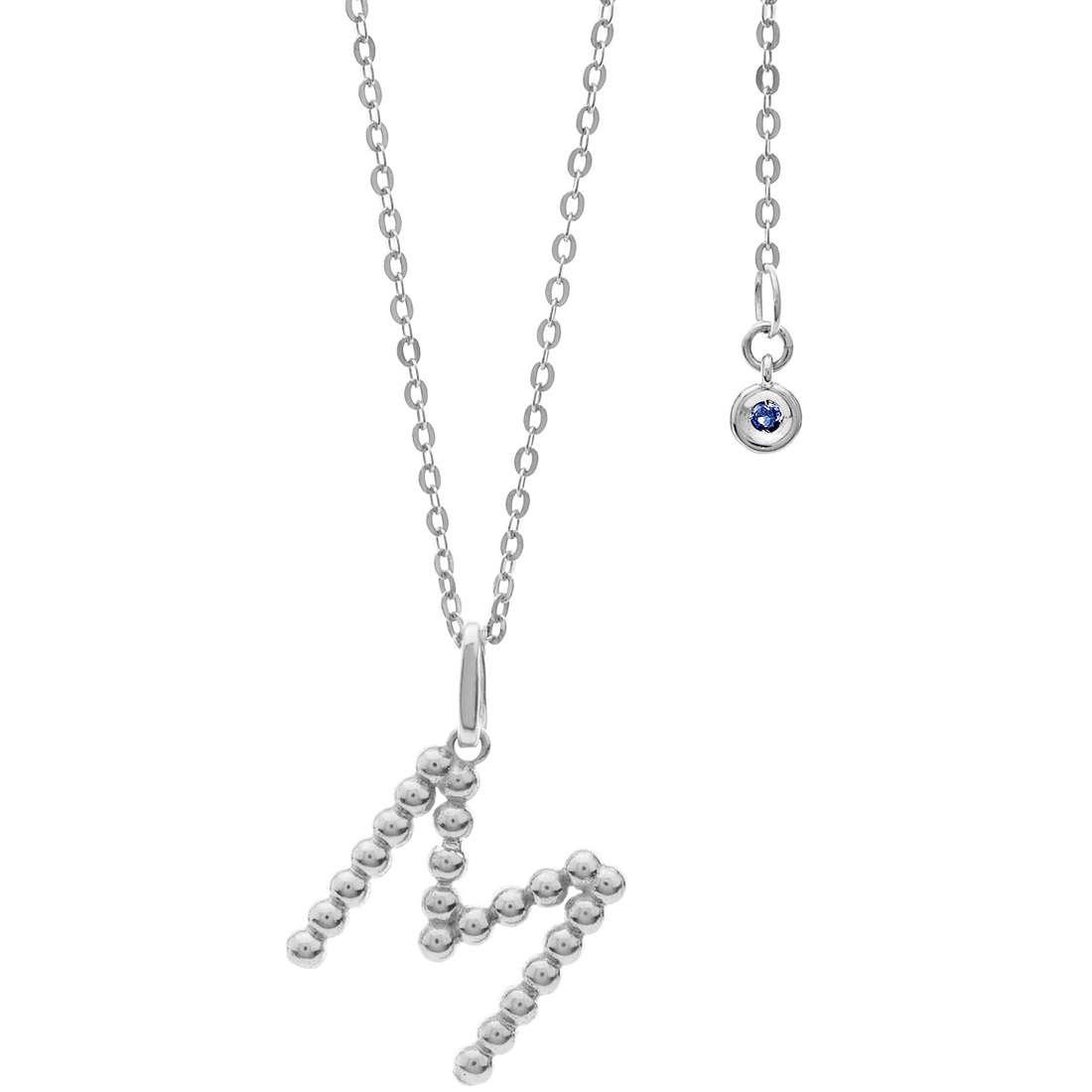 collana donna gioielli Comete Letterine GLB 1088