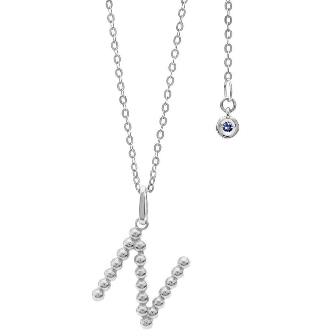 collana donna gioielli Comete Letterine GLB 1089