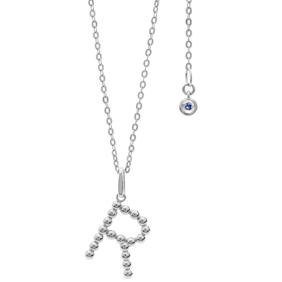 collana donna gioielli Comete Letterine GLB 1093