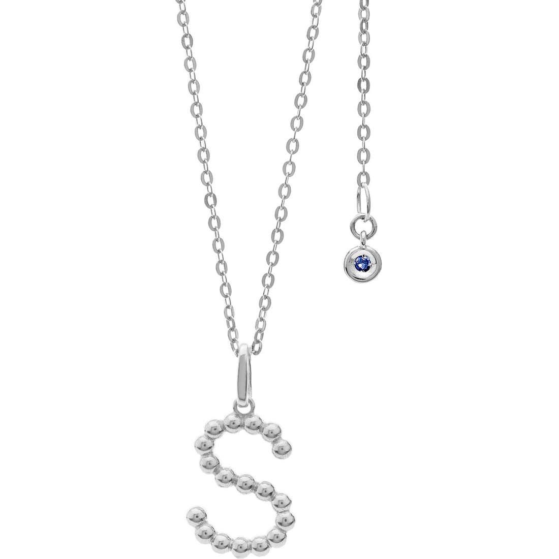 collana donna gioielli Comete Letterine GLB 1094