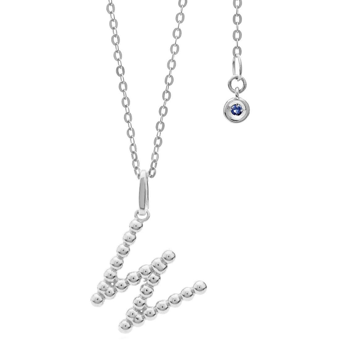 collana donna gioielli Comete Letterine GLB 1098
