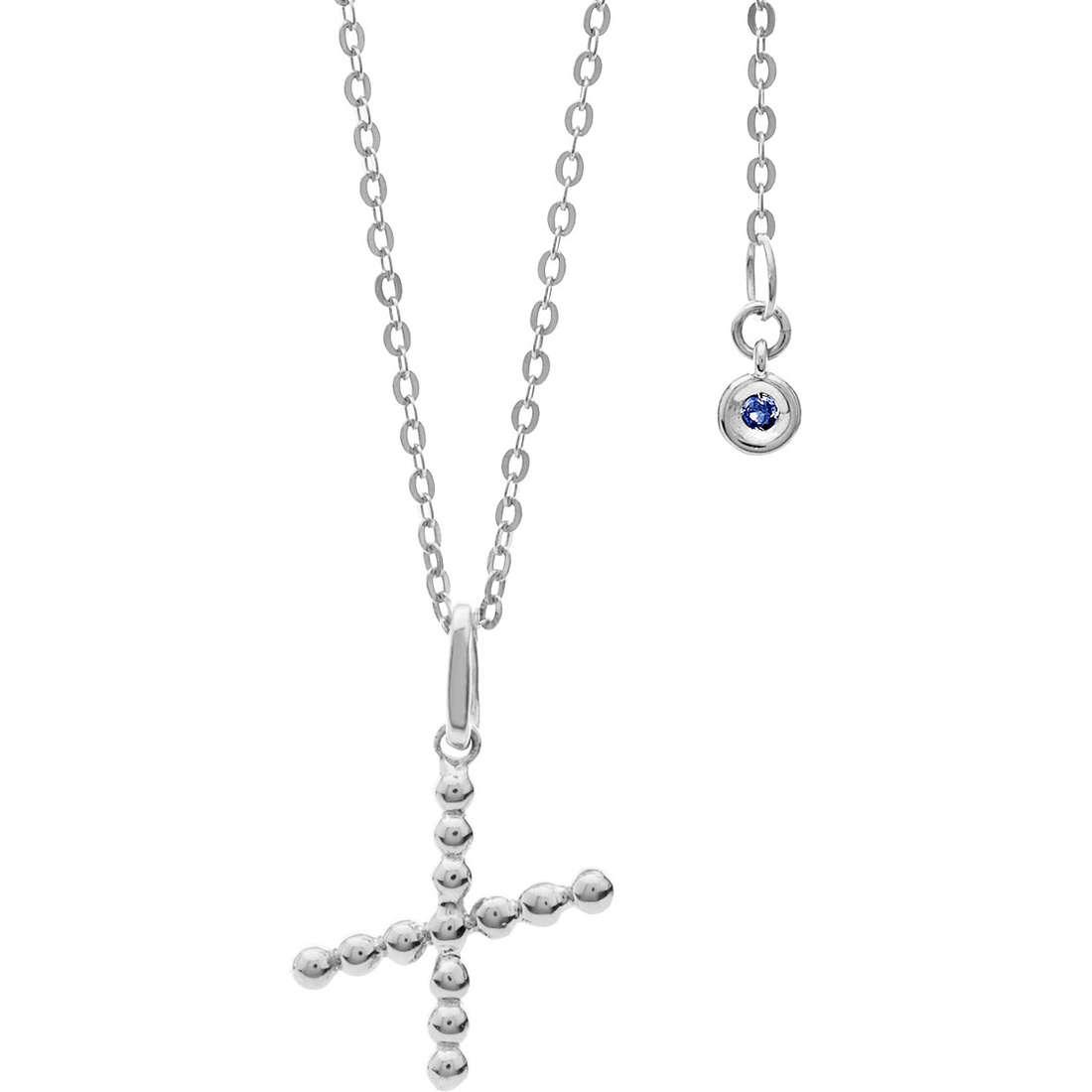 collana donna gioielli Comete Letterine GLB 1099