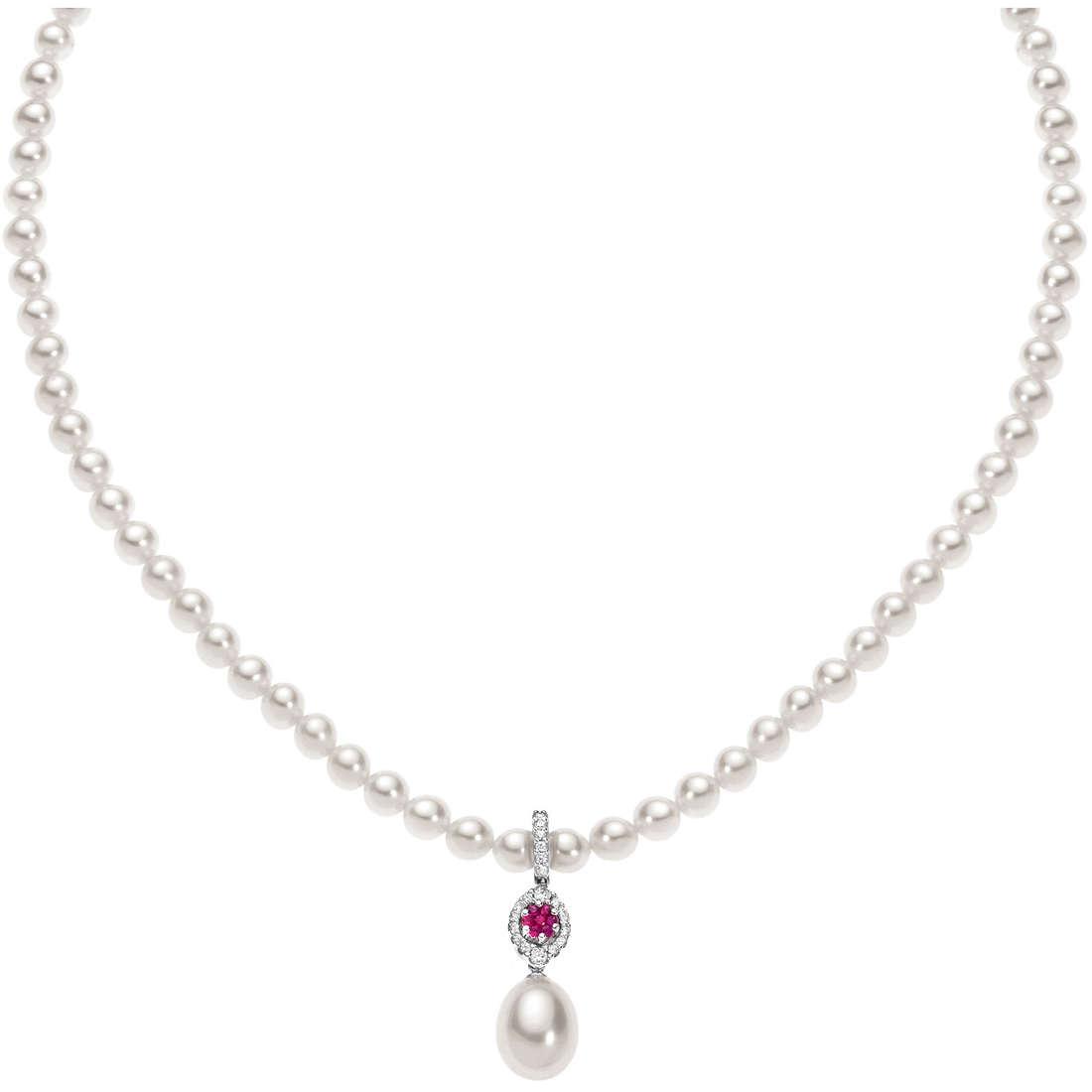 collana donna gioielli Comete Perla FWQ 142
