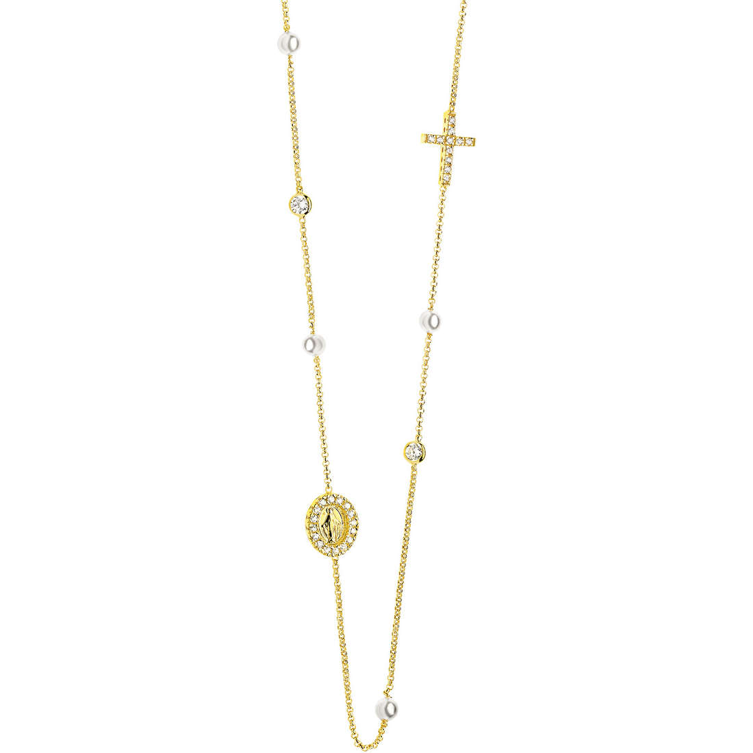 collana donna gioielli Comete Perla GLA 120