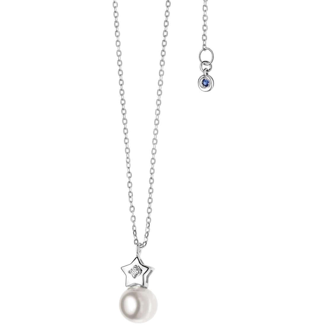 collana donna gioielli Comete Perla GLP 424
