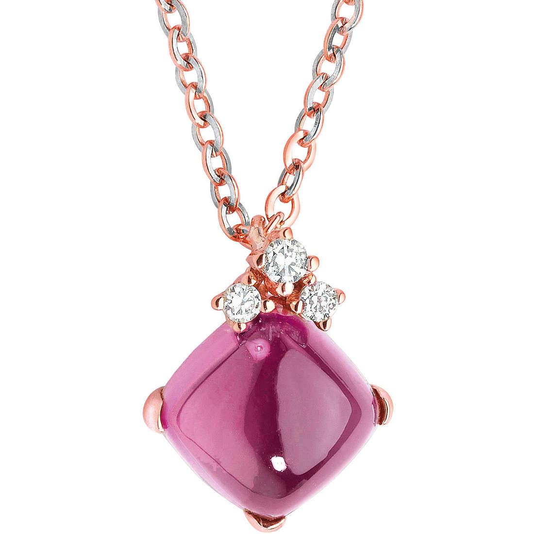 collana donna gioielli Comete Pietre preziose colorate GLB 755