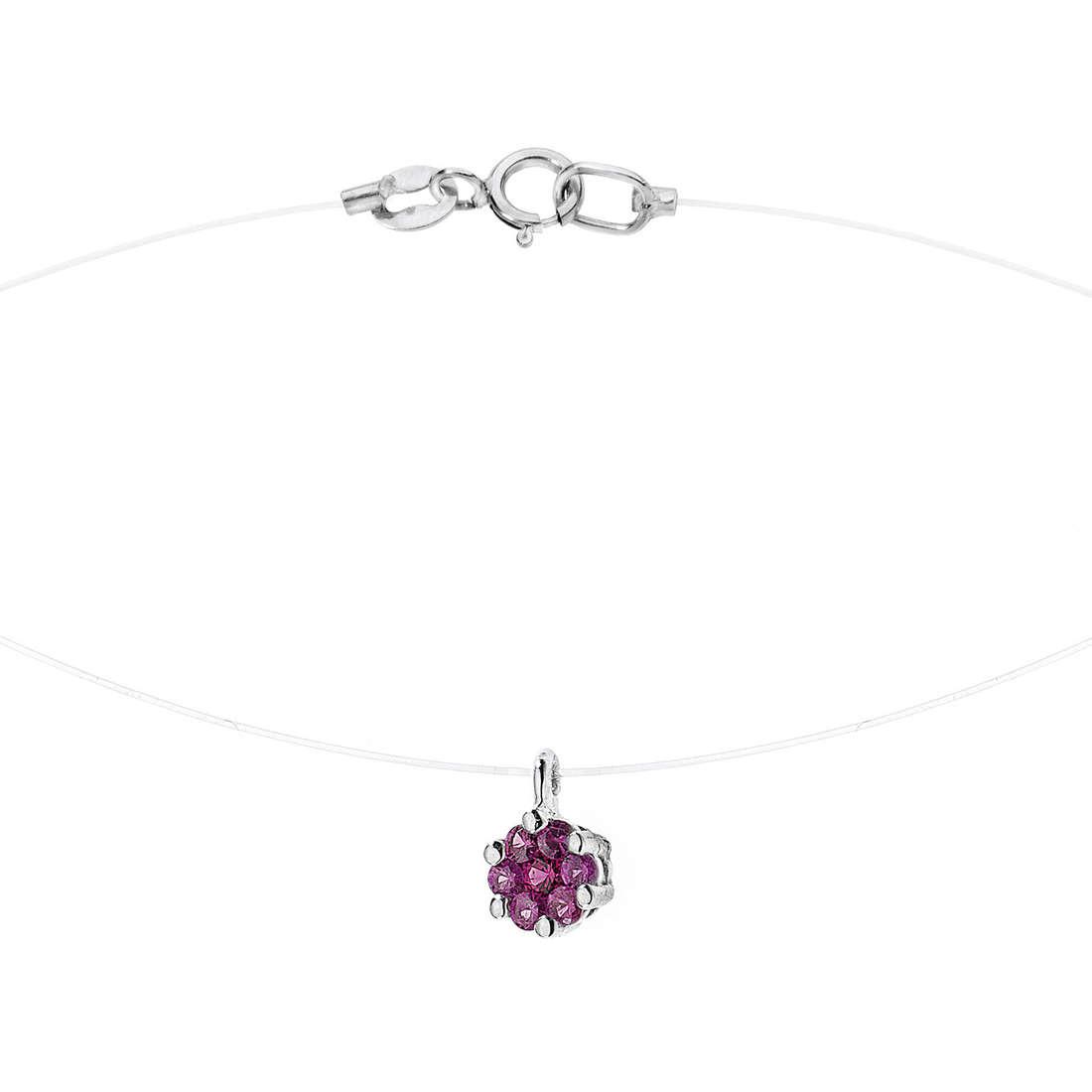 collana donna gioielli Comete Pietre preziose colorate GLB 874