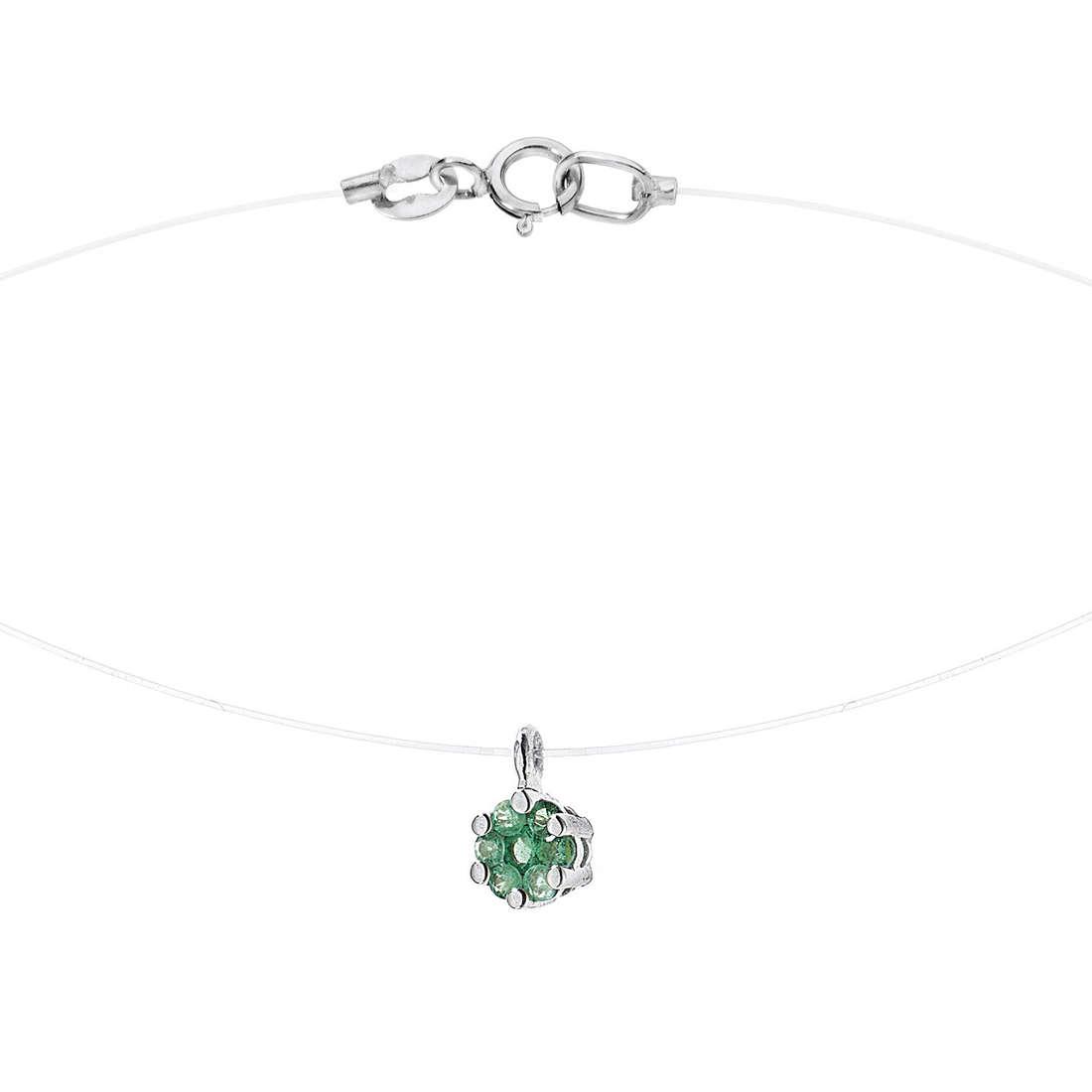 collana donna gioielli Comete Pietre preziose colorate GLB 875