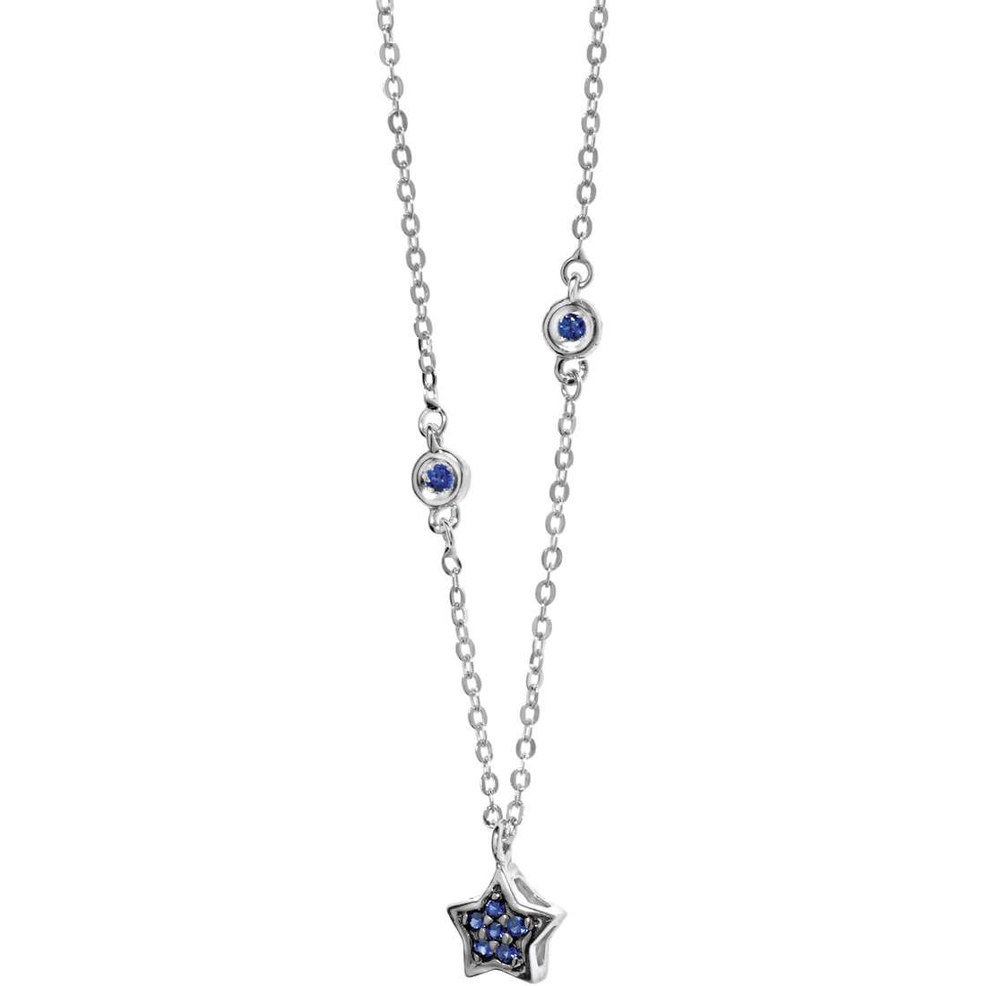 collana donna gioielli Comete Pietre preziose colorate GLB 889