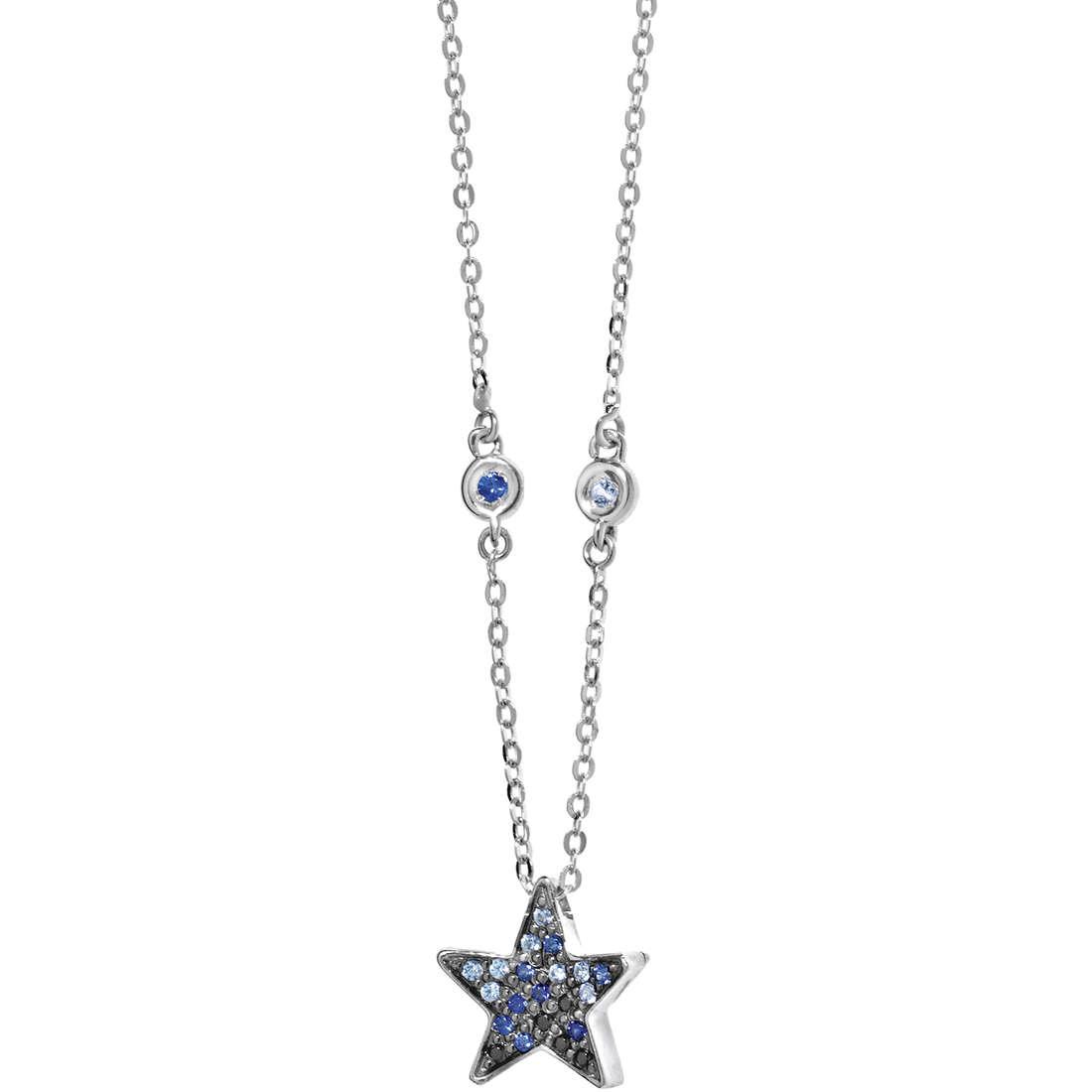 collana donna gioielli Comete Pietre preziose colorate GLB 890