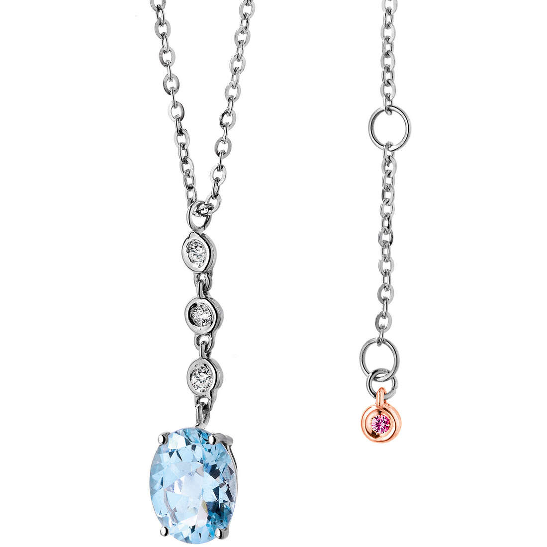 collana donna gioielli Comete Pietre preziose colorate GLQ 225