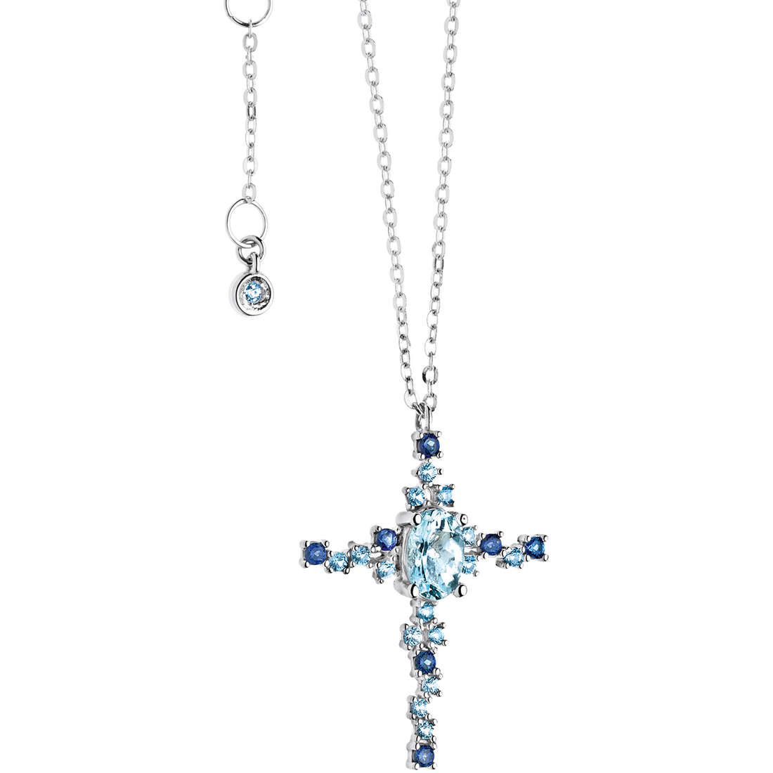 collana donna gioielli Comete Pietre preziose colorate GLQ 242