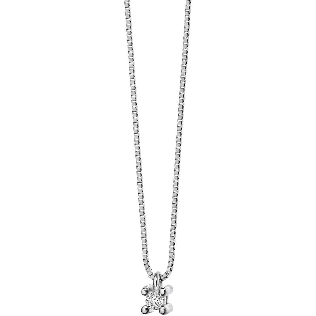 collana donna gioielli Comete Punto luce GLB 891