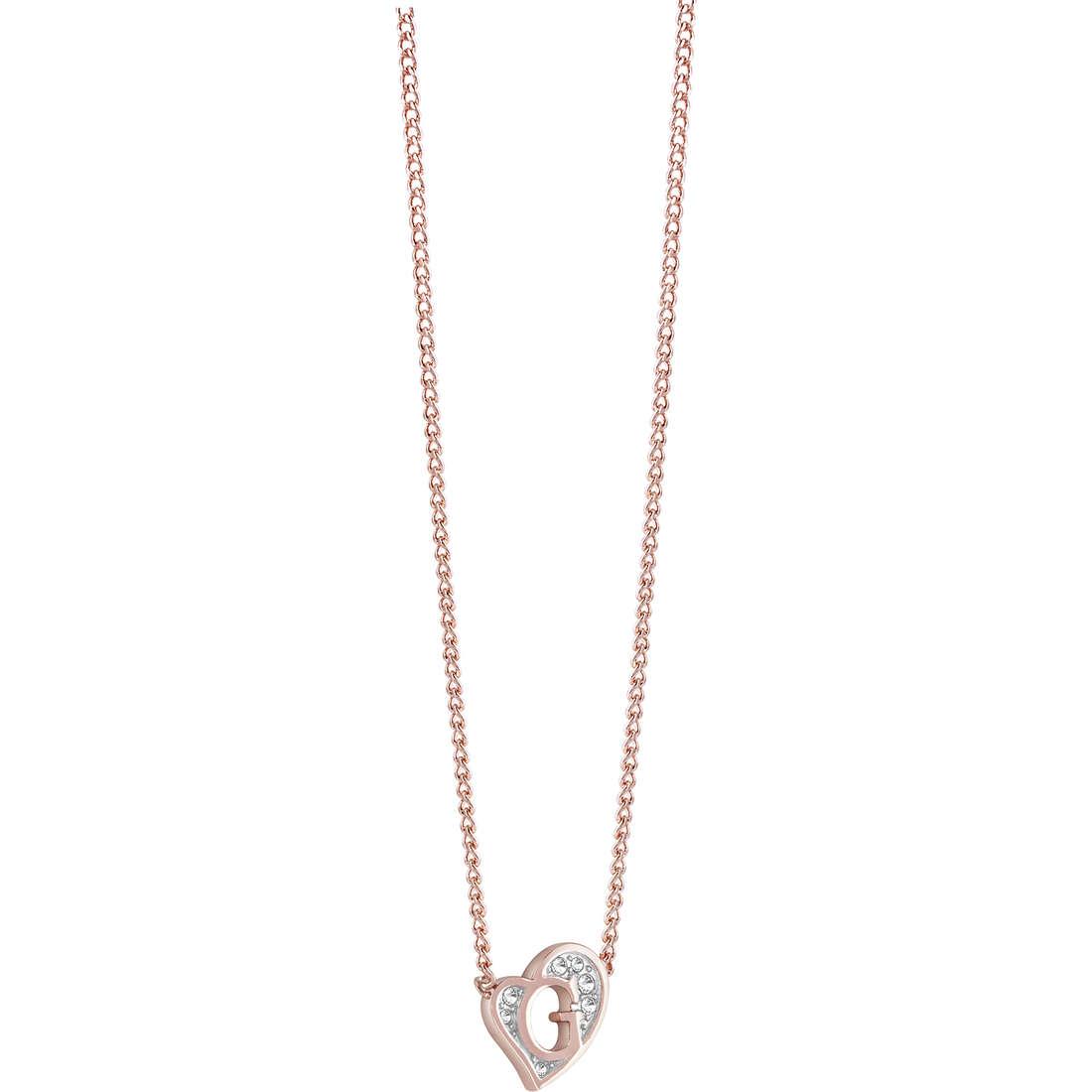 collana donna gioielli Guess G Hearts UBN71538