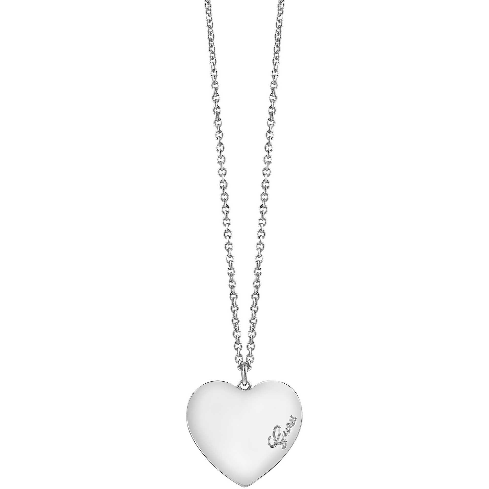 scarpe di separazione 1f708 32dad collana donna gioielli Guess Heartbeat UBN61050