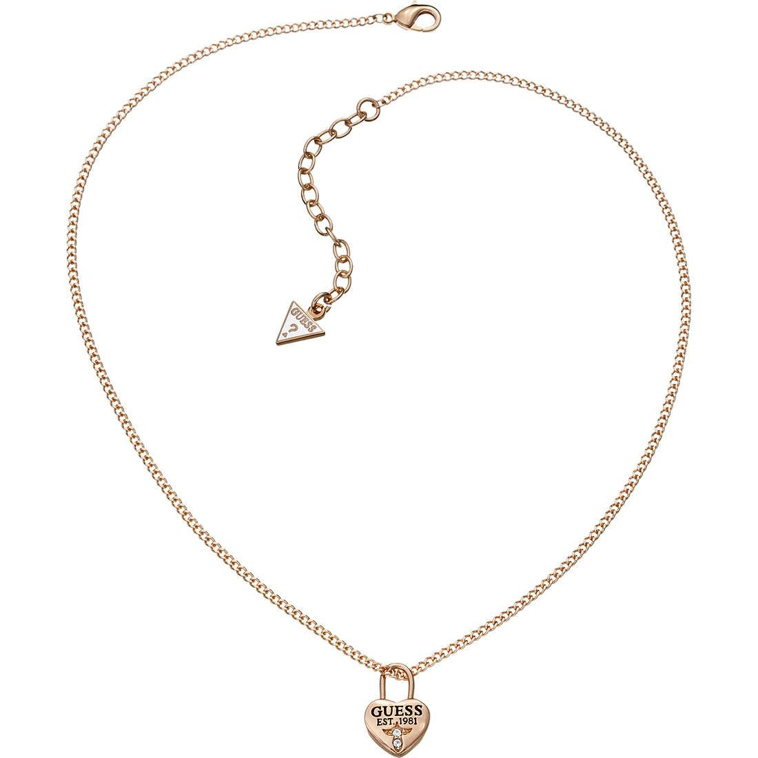 collana donna gioielli Guess Love Lock UBN51451