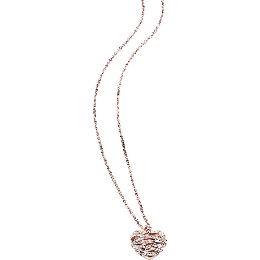 collana donna gioielli Guess Rose Gold UBN21620