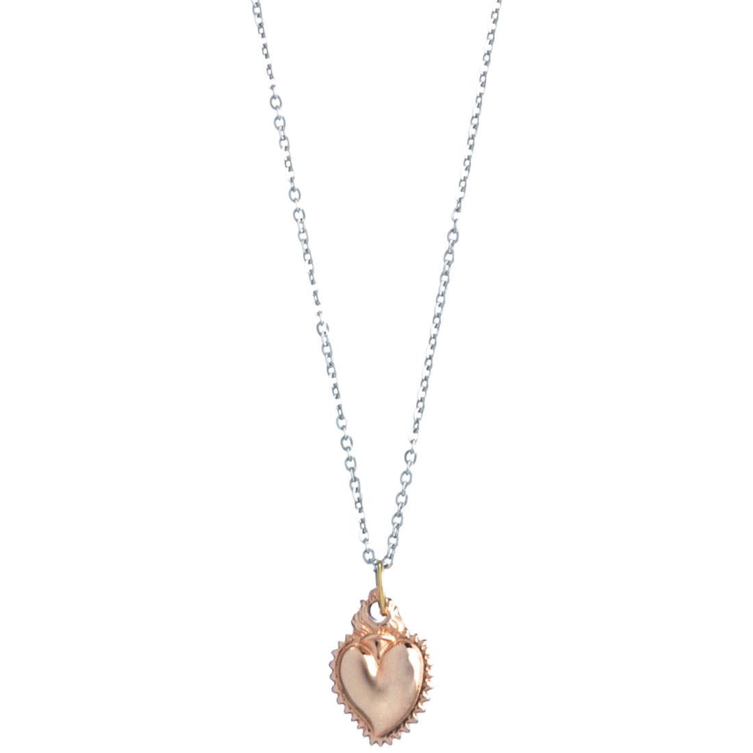 collana donna gioielli Marlù Sacro Cuore 13CN033