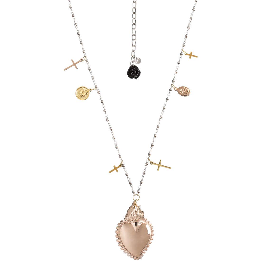 collana donna gioielli Marlù Sacro Cuore 13CO016