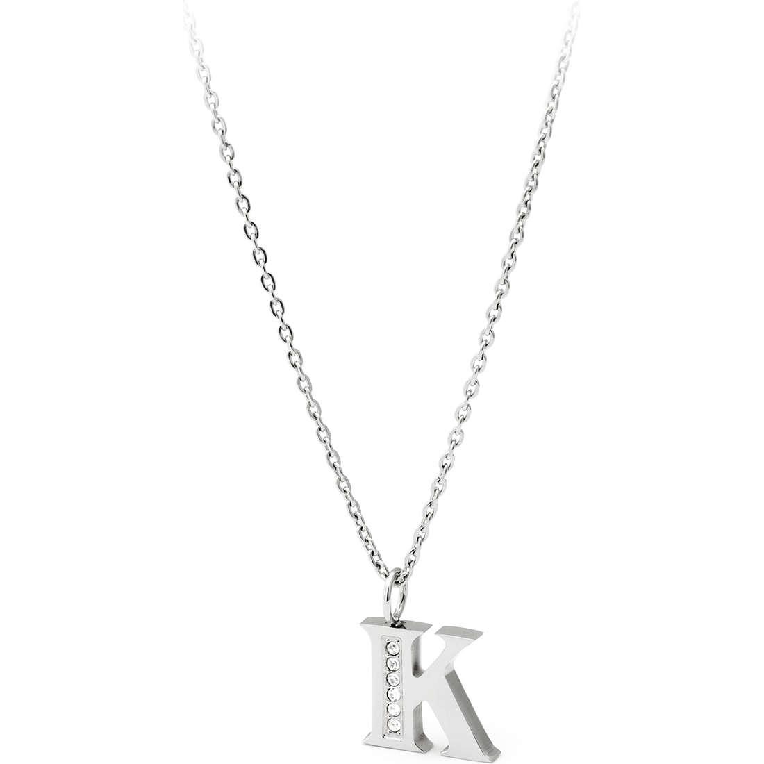 collana donna gioielli Sagapò Alphabet SALK1