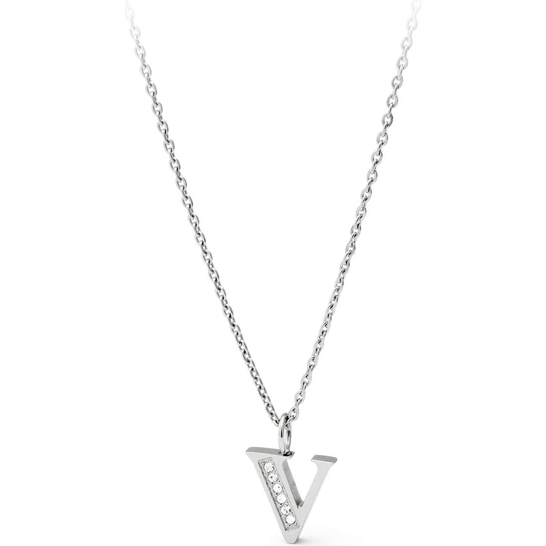 collana donna gioielli Sagapò Alphabet SALV