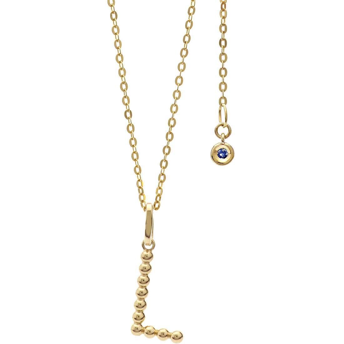 collier femme bijoux Comete Letterine GLB 1061