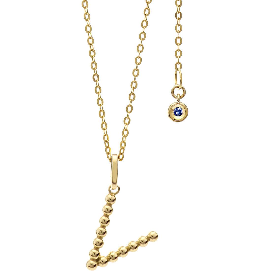 collier femme bijoux Comete Letterine GLB 1071