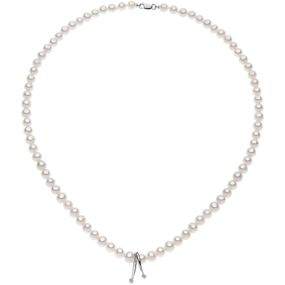 collier femme bijoux Comete Perle FWQ 215